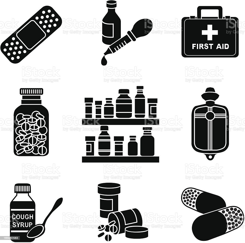 medicine cabinet royalty-free stock vector art