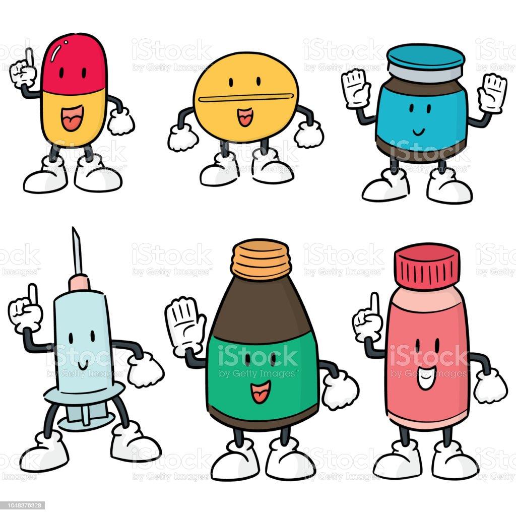 Vetores De Desenhos Animados De Medicina E Mais Imagens De