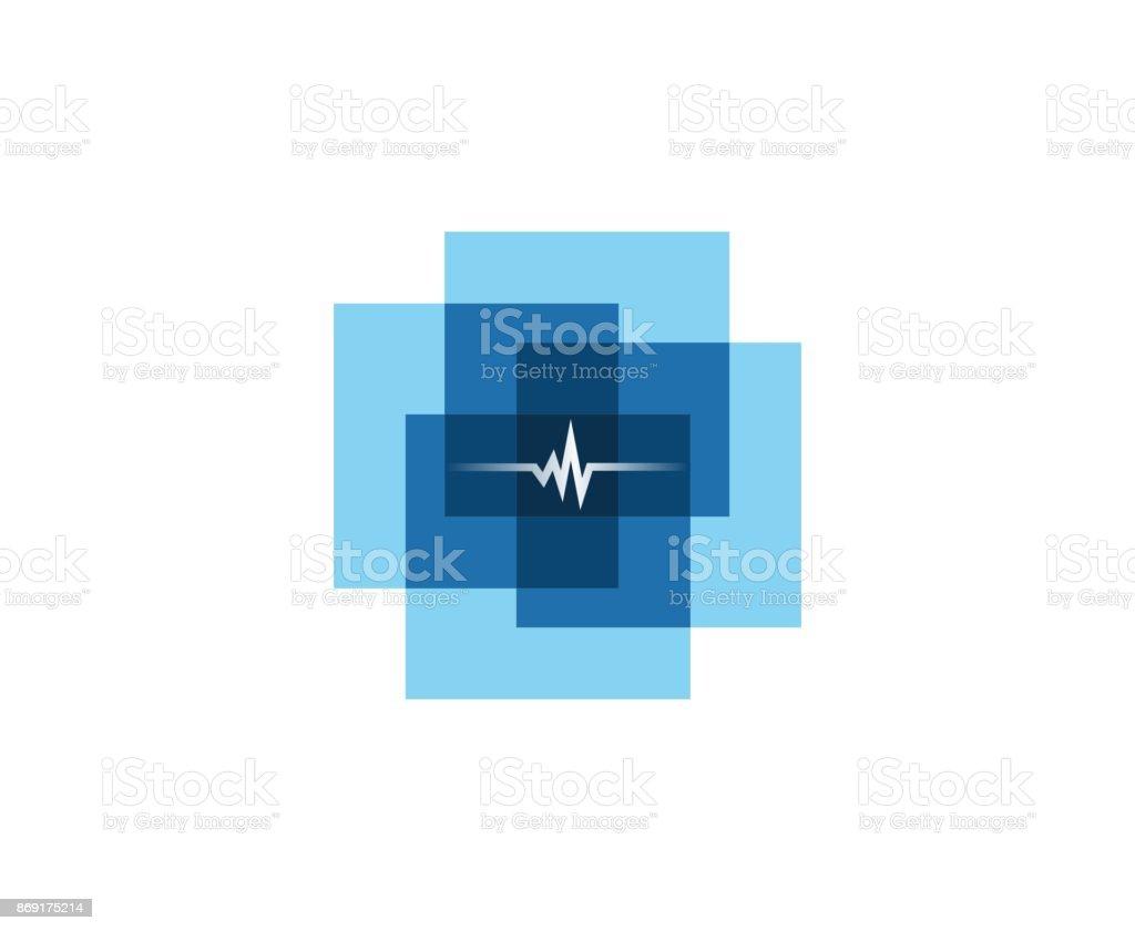 Medicina Cruz icono - ilustración de arte vectorial