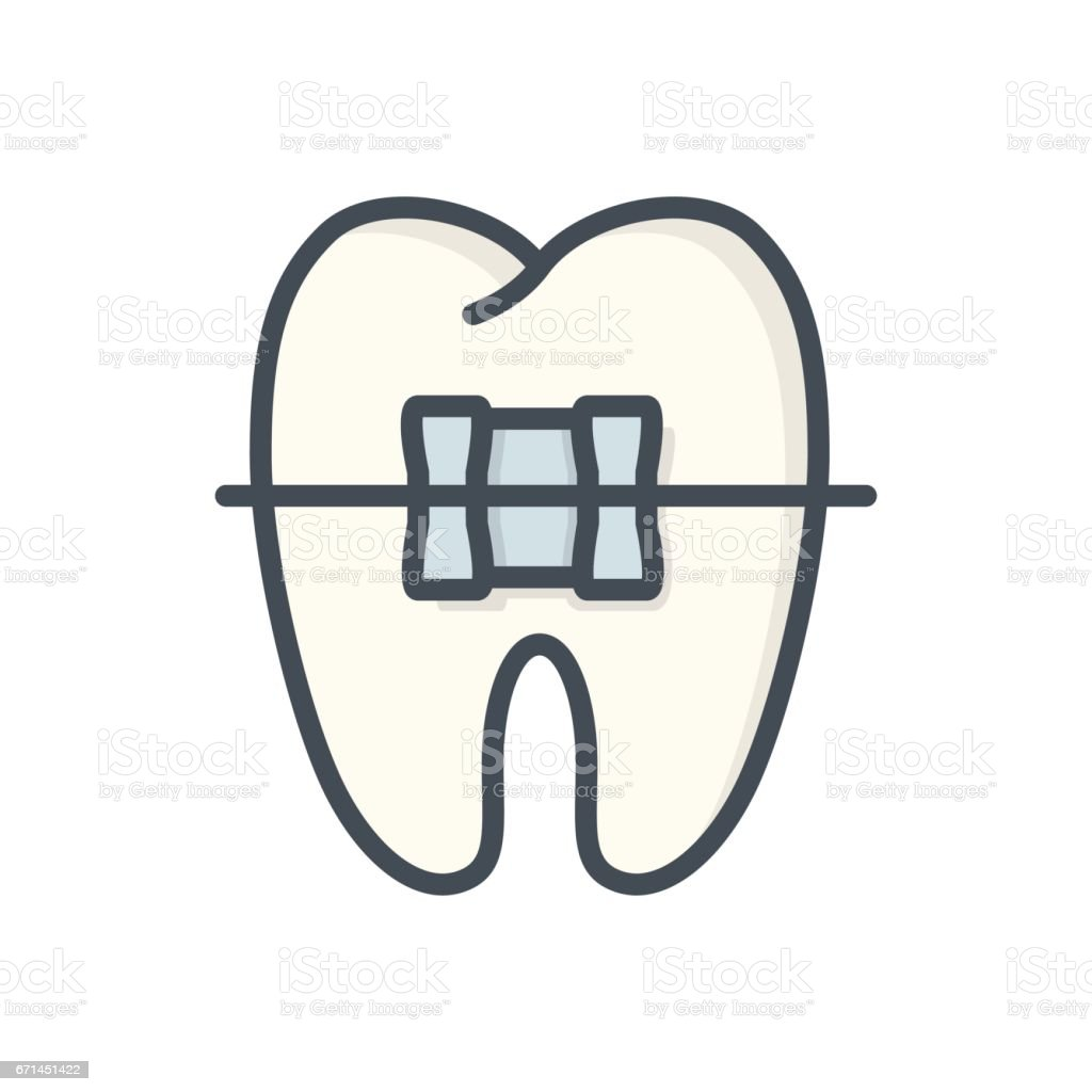 Medicine Dentist Colored Icon Tooth vector art illustration