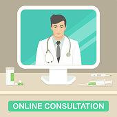medicine doctor, online medical consultation, health care service
