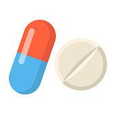 istock medicine Flat Design icon isolated on white background 1072626580