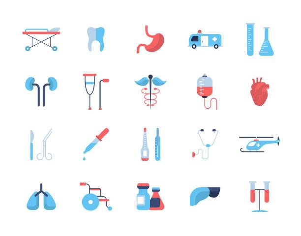 medicine - flat design icons, pictograms - 医療機器点のイラスト素材/クリップアート素材/マンガ素材/アイコン素材