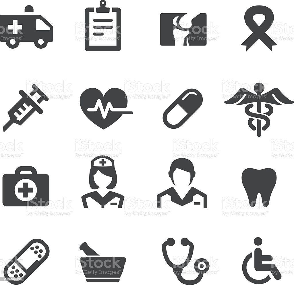 Serie iconos de medicina Acme - ilustración de arte vectorial
