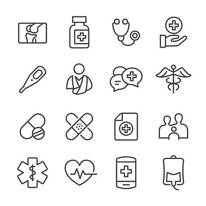 Medicine Icons - Line Series