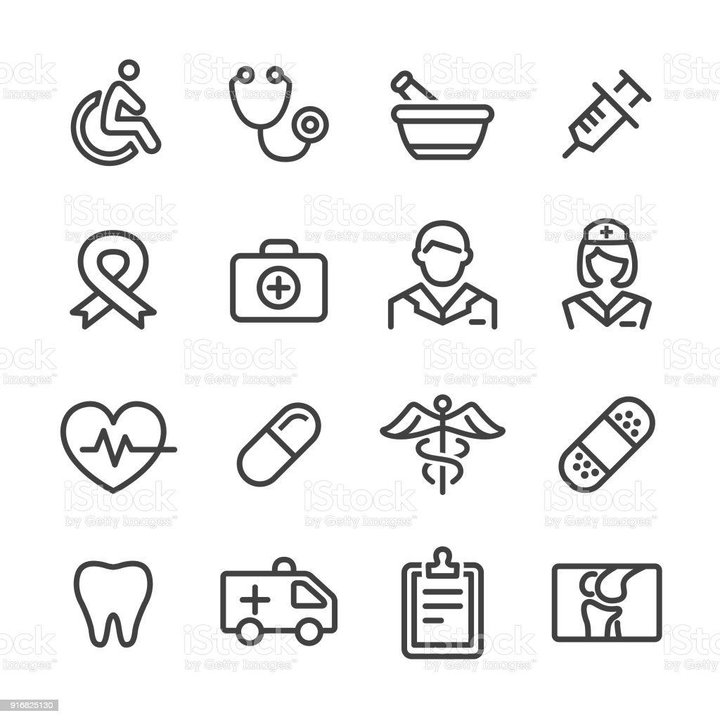 Medicine Icons - Line Series vector art illustration
