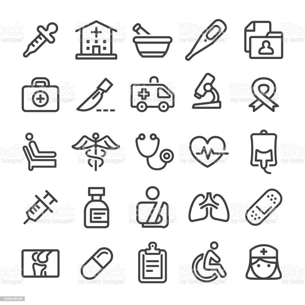 Medicine Icons - Smart Line Series vector art illustration