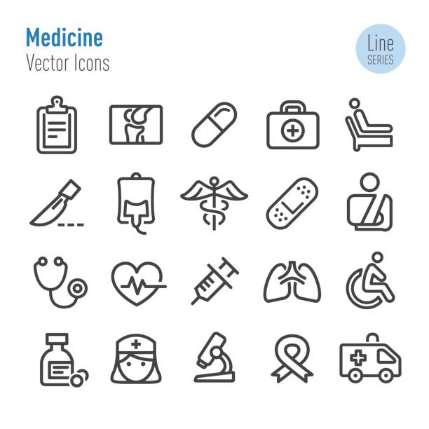 Medicine Icons - Vector Line Series vector art illustration