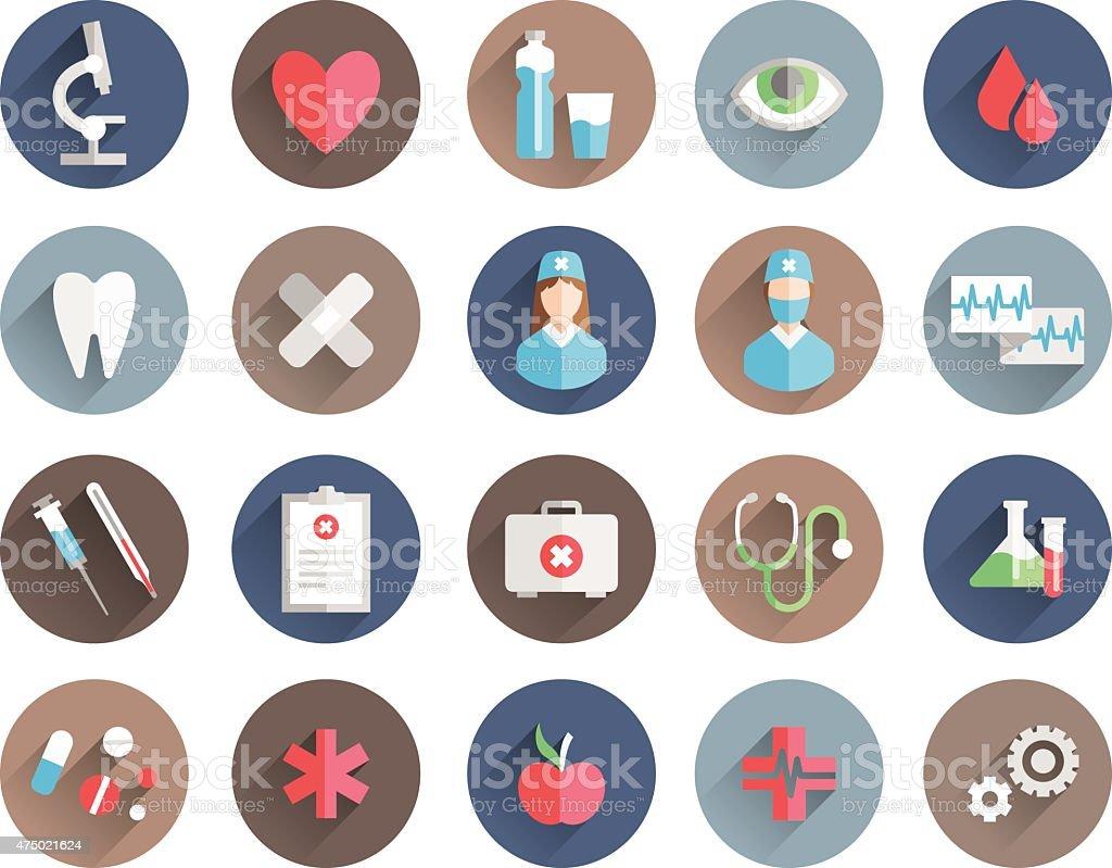 medicine icons vector set vector art illustration