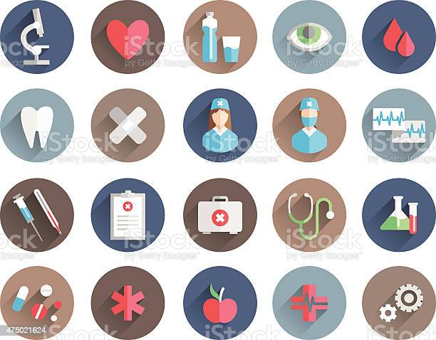 Medicine Icons Vector Set Stock Illustration - Download Image Now