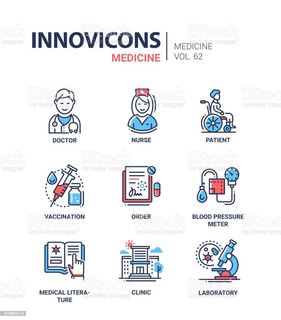 Medizin - set Linie Design-Ikonen – Vektorgrafik