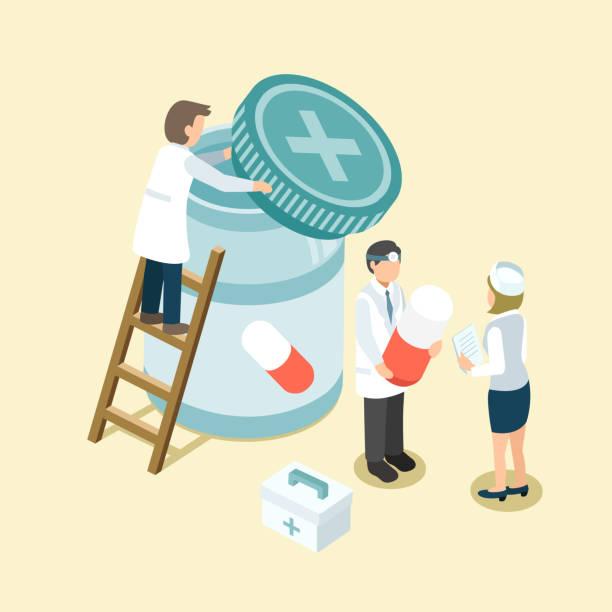 medicine managementvectorkunst illustratie