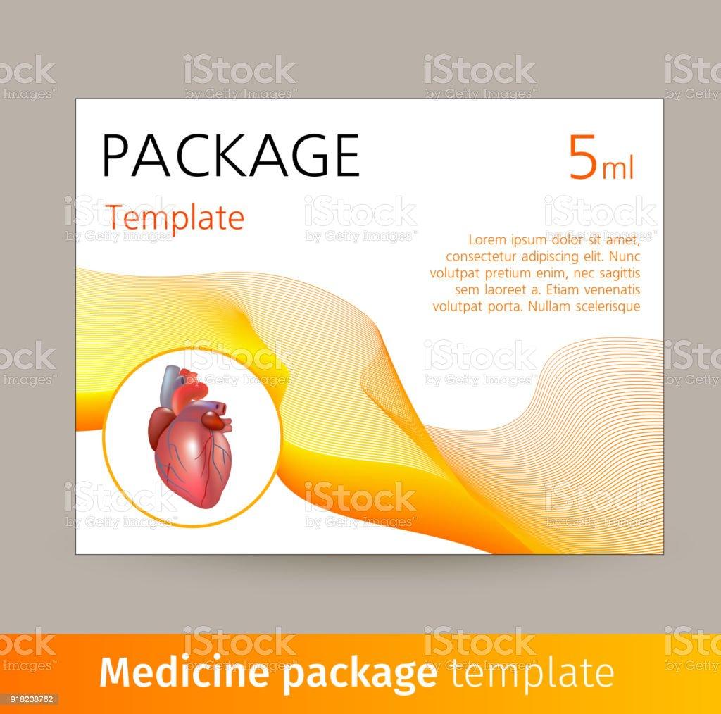Medizinpaket Vorlagendesign Mit Realistischen Organ Des Menschen ...