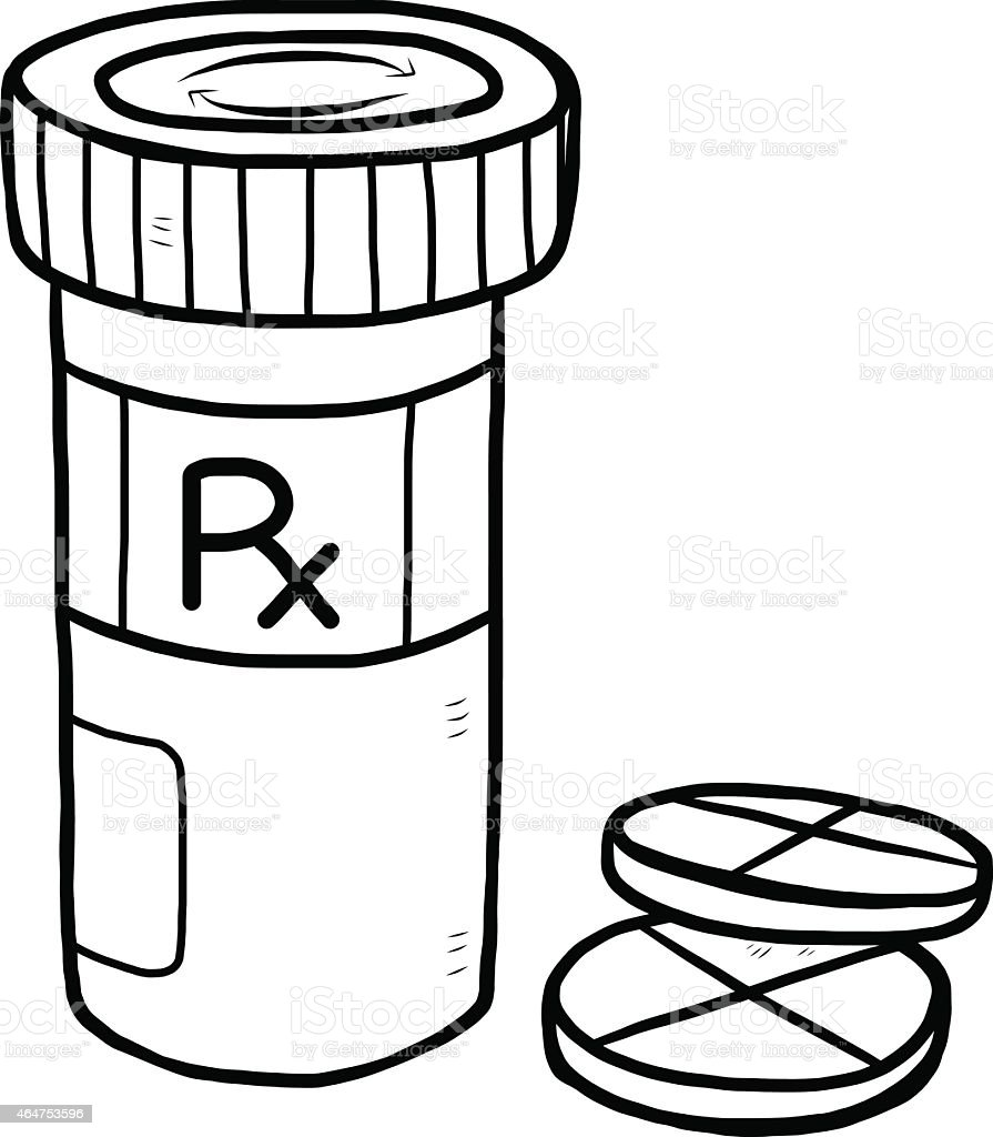 medicine pill and bottle stock vector art more images of 2015 rh istockphoto com Lotion Bottle Clip Art Medicine Bottle Clip Art