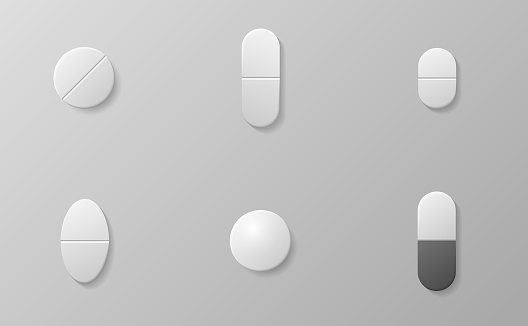 Medicine pills or tablet, medical drugs capsule