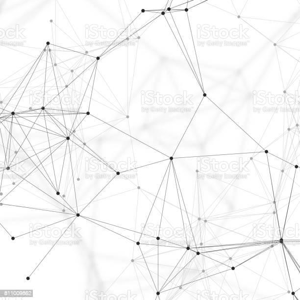 Medizin Naturwissenschaft Und Technikkonzept Minimalistisches Design Chemiemuster Verbindungslinien Und Punkte Molekülstruktur Auf Weiße Wissenschaftliche Medizinische Dnaforschung Geometrische Grafischen Hintergrund Stock Vektor Art und mehr Bilder von Abstrakt
