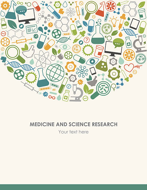 Medicine Science Background vector art illustration
