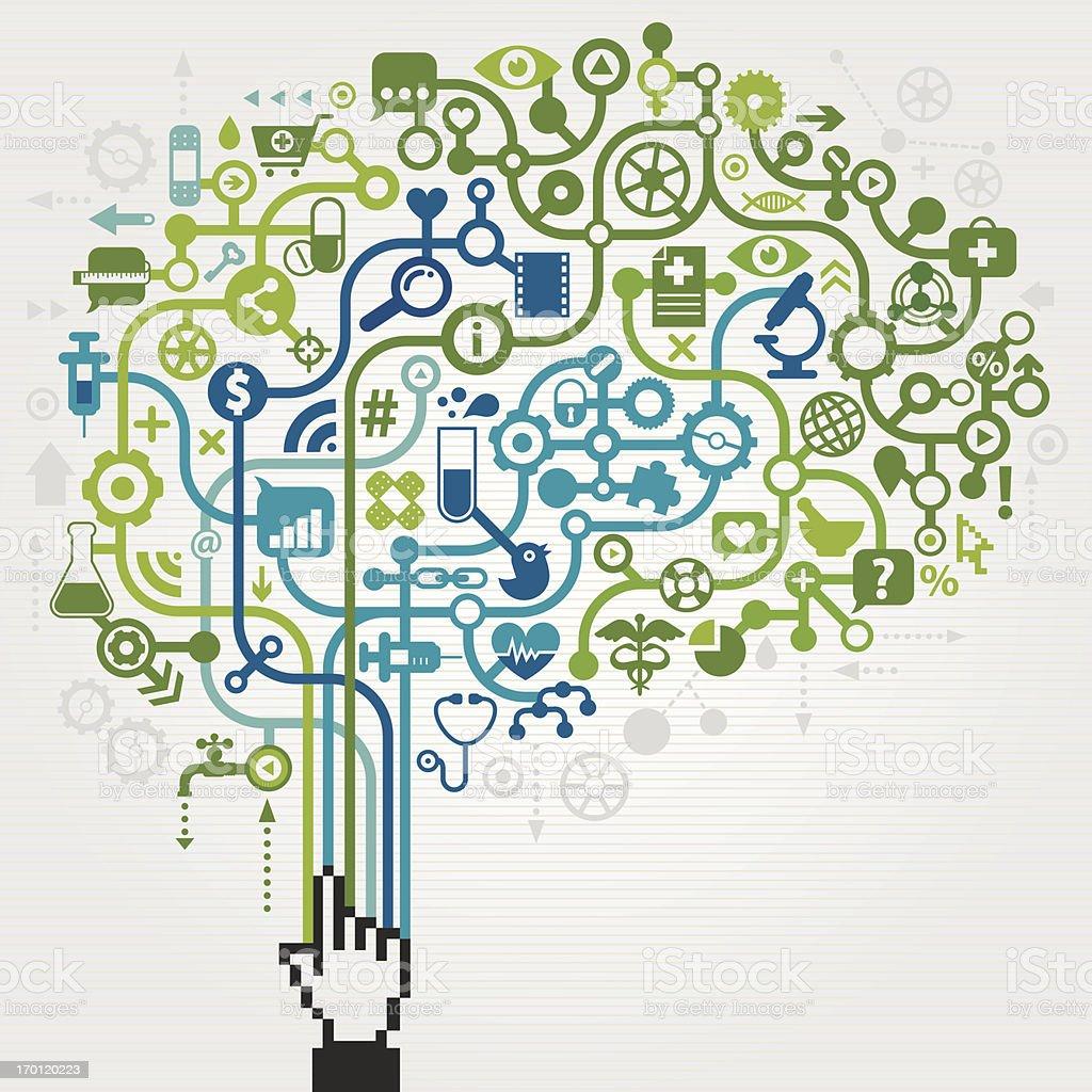 Medicine Science Brain Concept vector art illustration