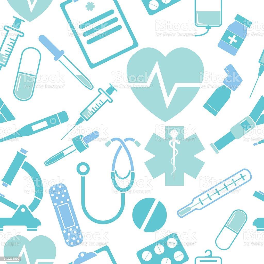 Medicine seamless pattern vector art illustration
