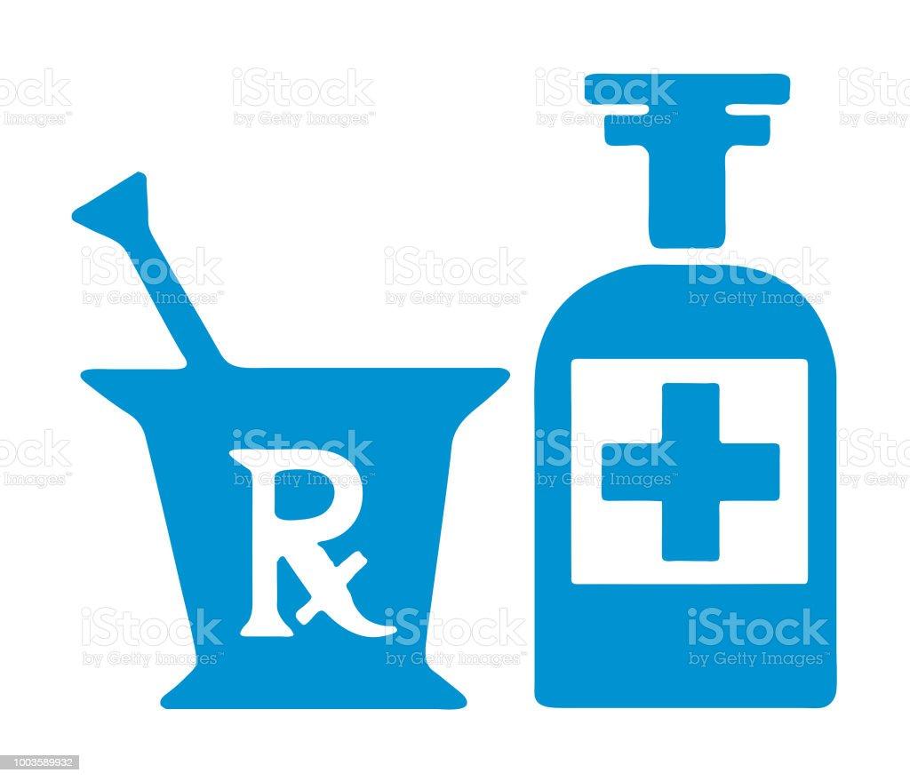 Medicine - arte vettoriale royalty-free di Blu