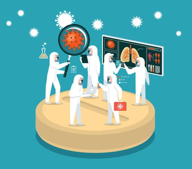 의학 - covid testing stock illustrations
