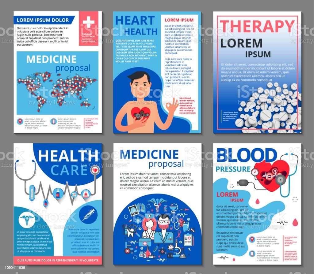 Illustrations Vectorielles De Médecine Pour Le Matériel