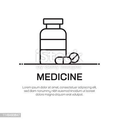 Medicine Vector Line Icon - Simple Thin Line Icon, Premium Quality Design Element
