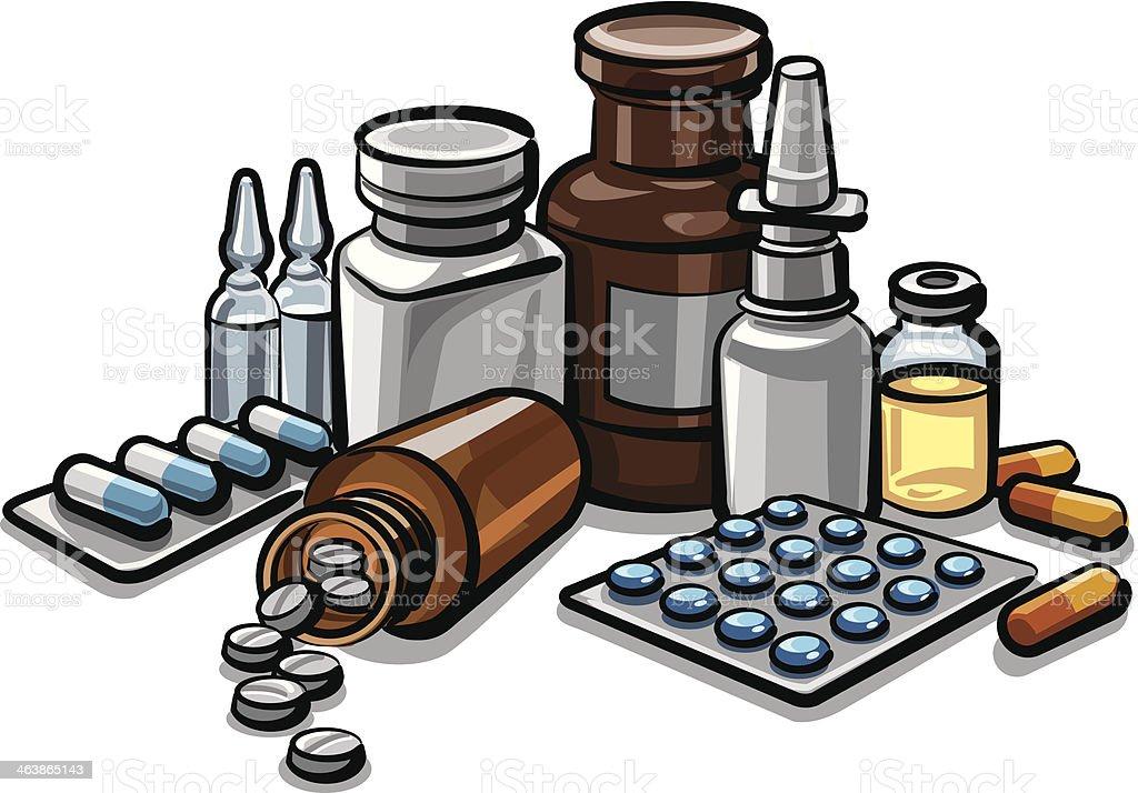 medicines royalty-free stock vector art