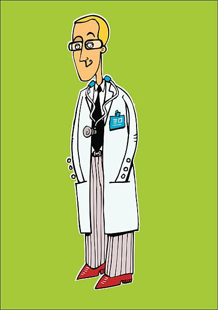 sonriente Medico - ilustración de arte vectorial