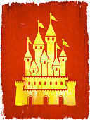 Medieval Castle on royalty free vector Background