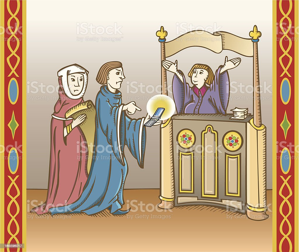 Medieval cellphone complaints royalty-free medieval cellphone complaints stock vector art & more images of adult