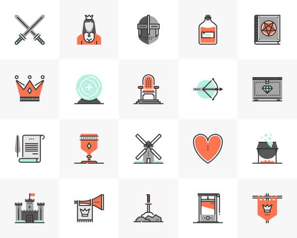 mittelalterliche kultur futuro next icons pack - geistergeschichten stock-grafiken, -clipart, -cartoons und -symbole