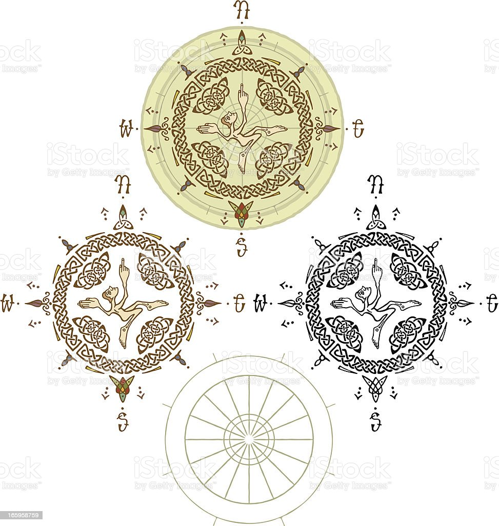 Medieval Ecclesiastical Celtic Knot Compass royalty-free medieval ecclesiastical celtic knot compass stock vector art & more images of adult