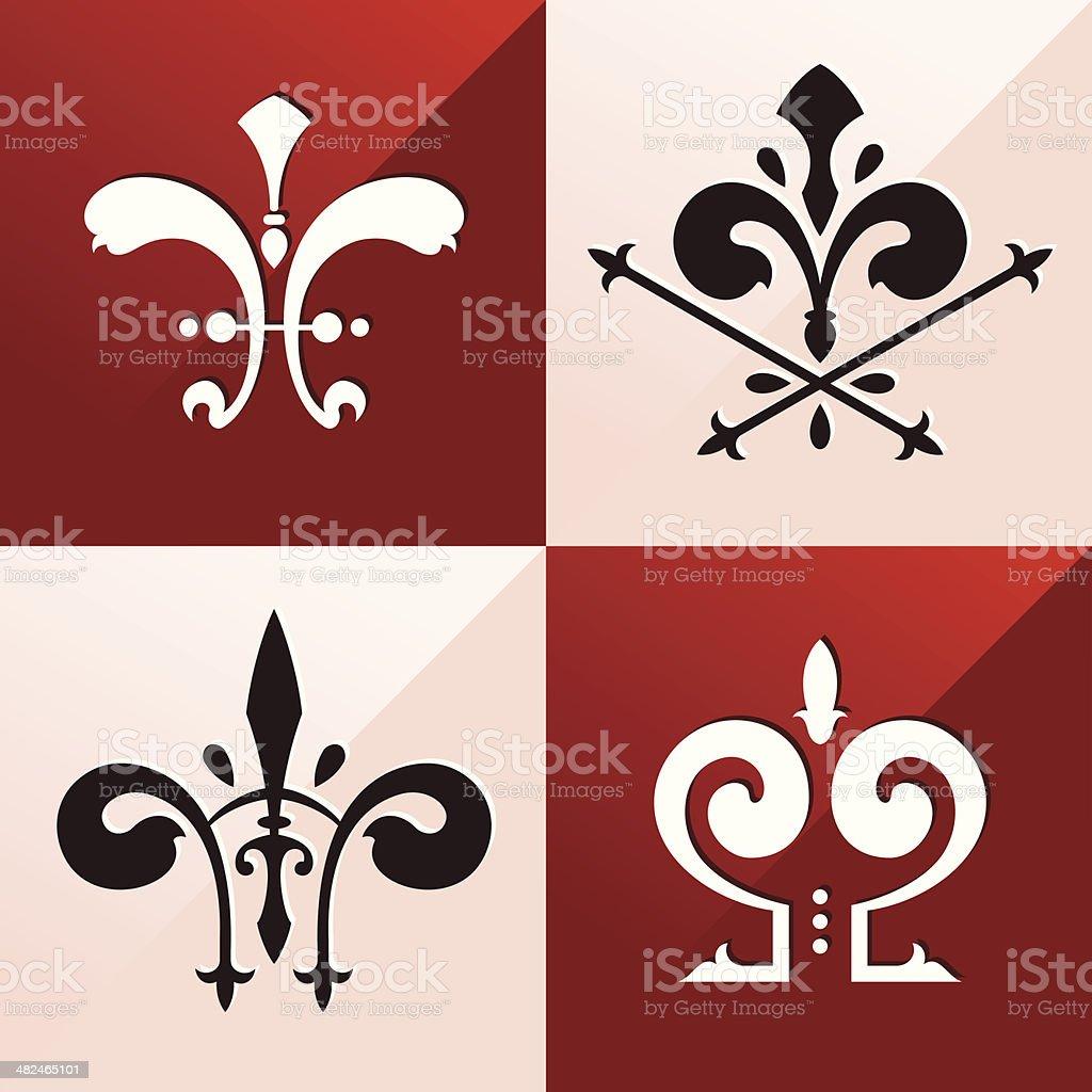 medieval emblem ornament royalty-free stock vector art