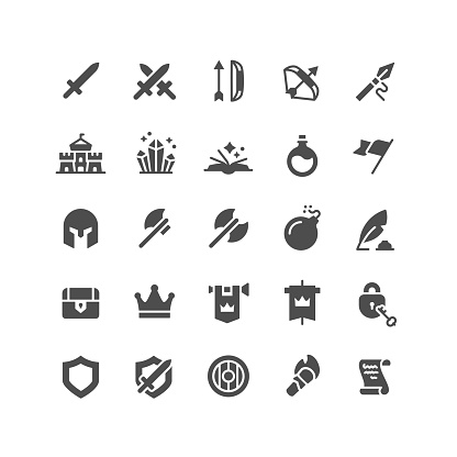 Medieval Flat Icons