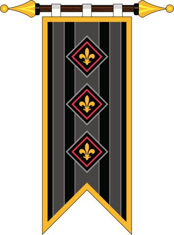 Medieval Fleur De Lys Banner Flag