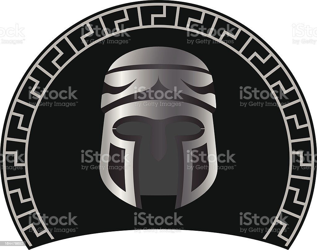 medieval helmet royalty-free stock vector art