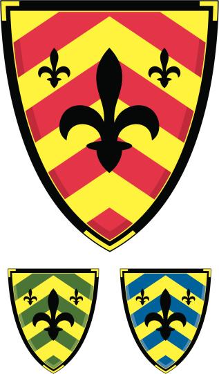 Medieval Heraldic Fleur De Lys Shield