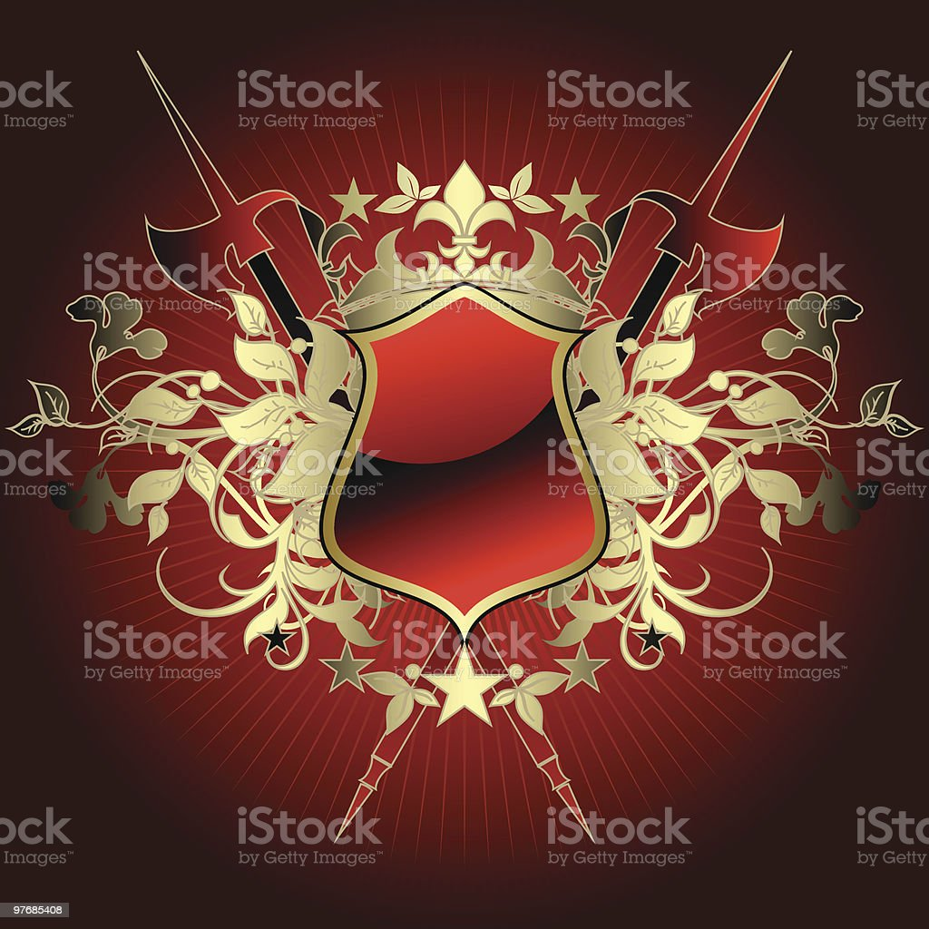 Medieval heraldic shield royalty-free medieval heraldic shield stock vector art & more images of axe