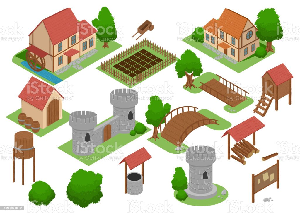 Medieval House Tile Online Strategic Android Video Game