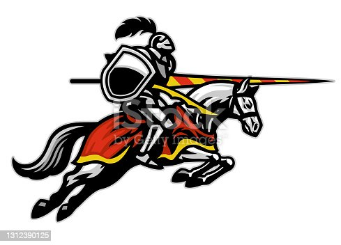 istock medieval jousting sport player ride running horse 1312390125