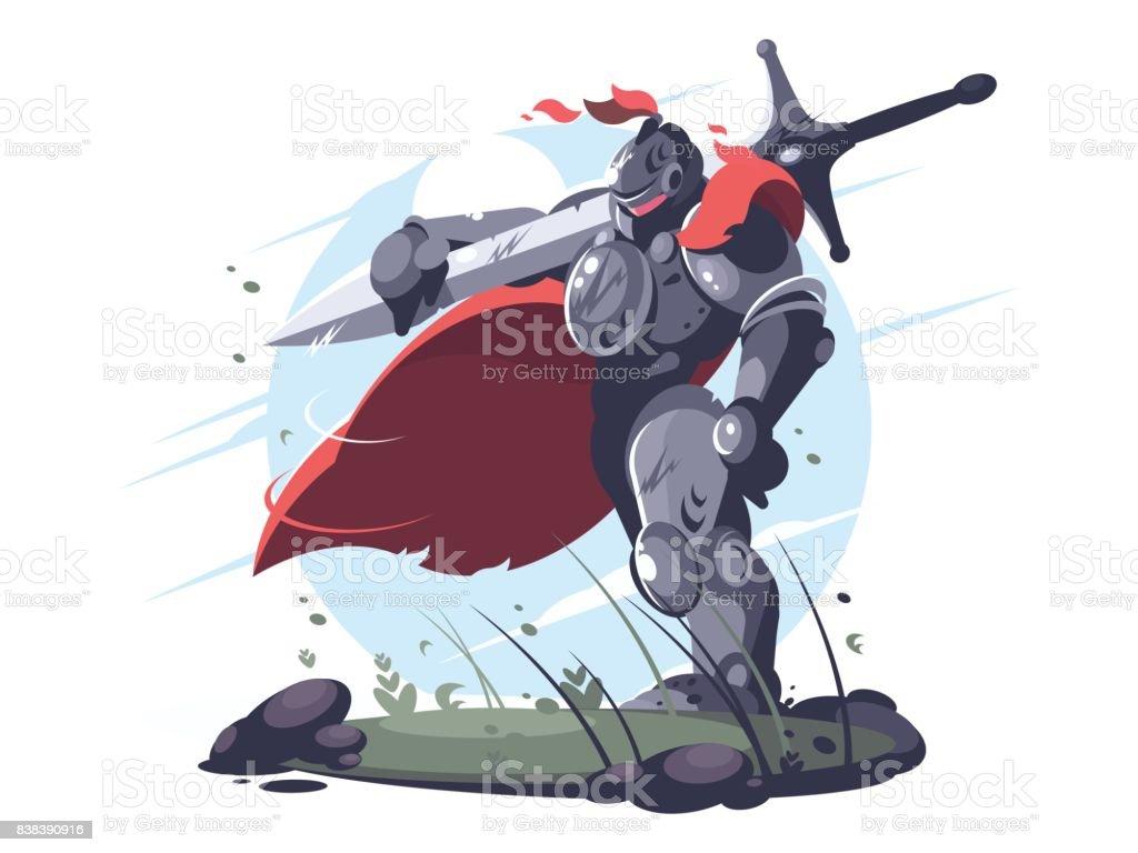 Ilustración de Caballero Medieval De Metal Armadura Y Casco y más ...