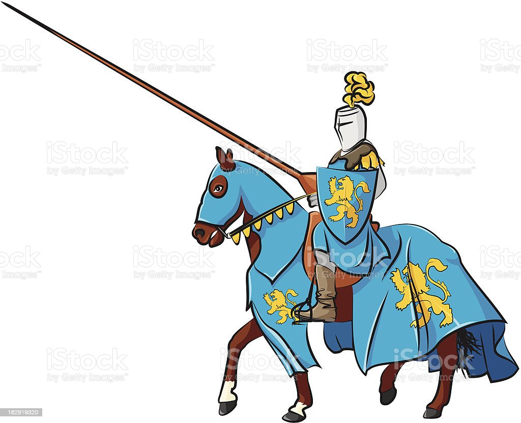 medieval knight on horseback royalty-free medieval knight on horseback stock vector art & more images of animal