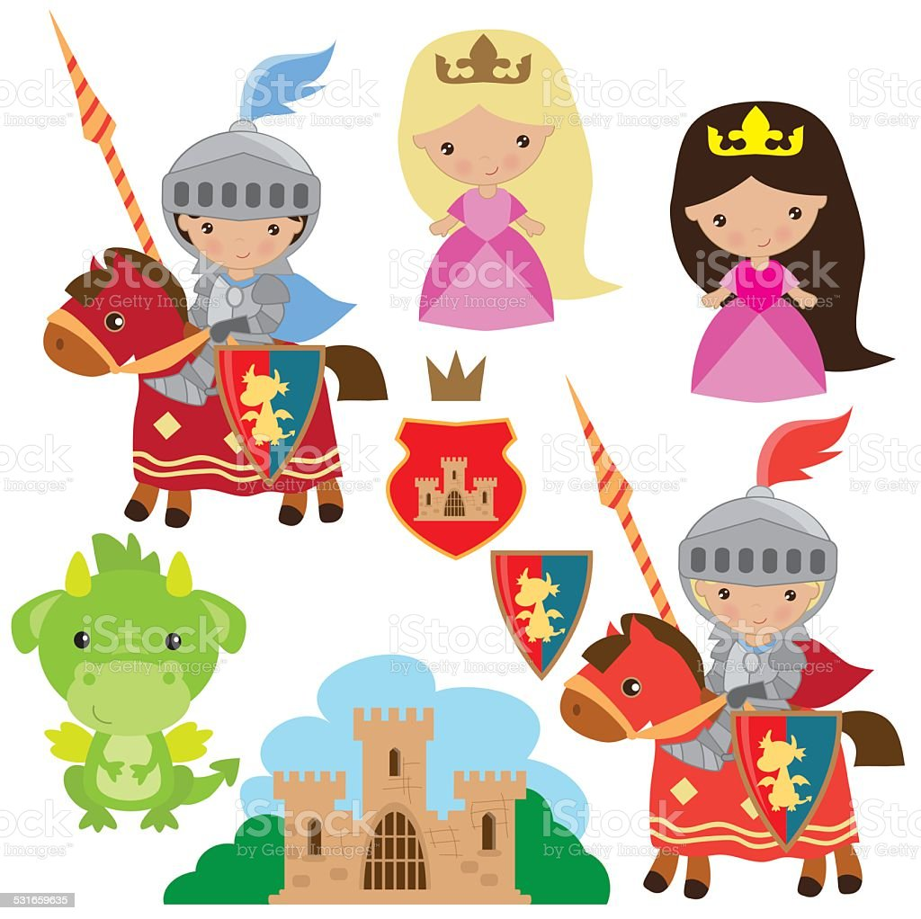Royalty Free Princess Fairy Tale Knight Person Cute Clip ...