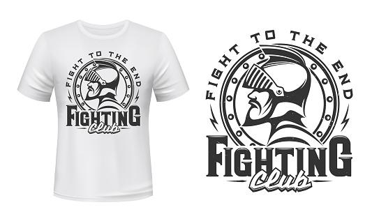Medieval knight t-shirt print of fight club