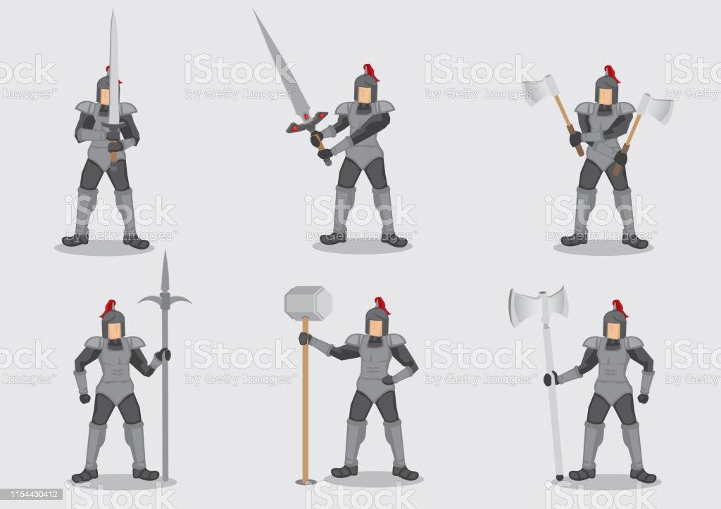 0a9c6394fd Guerreiro medieval do cavaleiro no jogo do caráter do vetor do Amour  vetores de guerreiro medieval