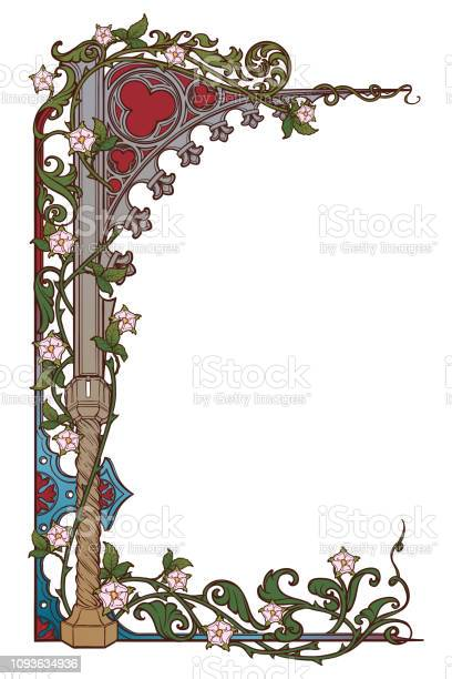 Medieval manuscript style rectangular frame gothic style pointed arch vector id1093634936?b=1&k=6&m=1093634936&s=612x612&h=hvefb8moezhqxkke64yqfi85t8sljy7wcwcw2fhbd3w=