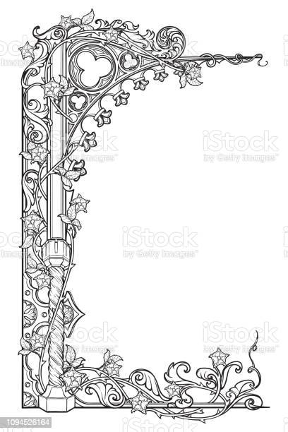 Medieval manuscript style rectangular frame gothic style pointed arch vector id1094526164?b=1&k=6&m=1094526164&s=612x612&h=t6eqfbmanb4gv zleo9luryvnztmioub1fqv9kt axg=