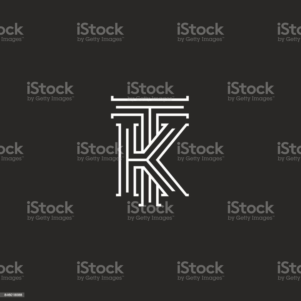 Medieval monogram tk icon combination initials t and k capital medieval monogram tk icon combination initials t and k capital letters overlapping thin lines style stopboris Choice Image