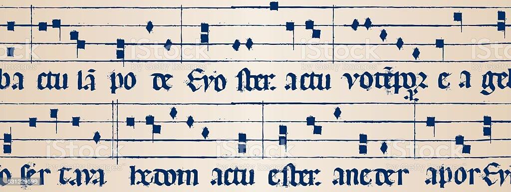 średniowieczny Muzyka Wynik Seamless Stockowe Grafiki